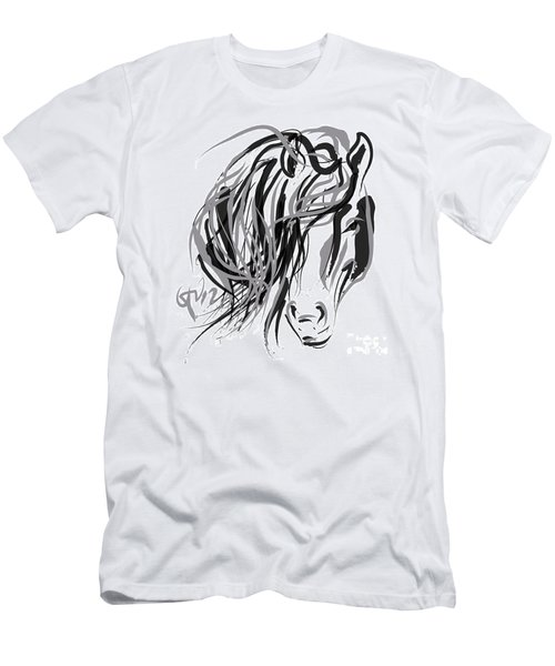 Horse- Hair And Horse Men's T-Shirt (Athletic Fit)