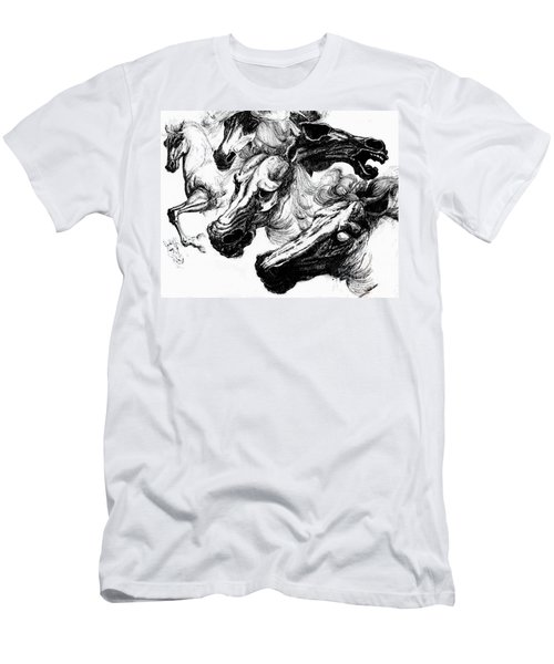 Horse Ink Drawing  Men's T-Shirt (Athletic Fit)