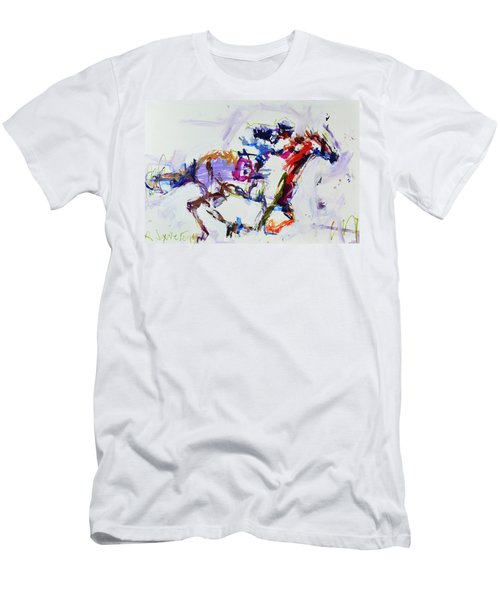 Horse Racing Print Men's T-Shirt (Athletic Fit)
