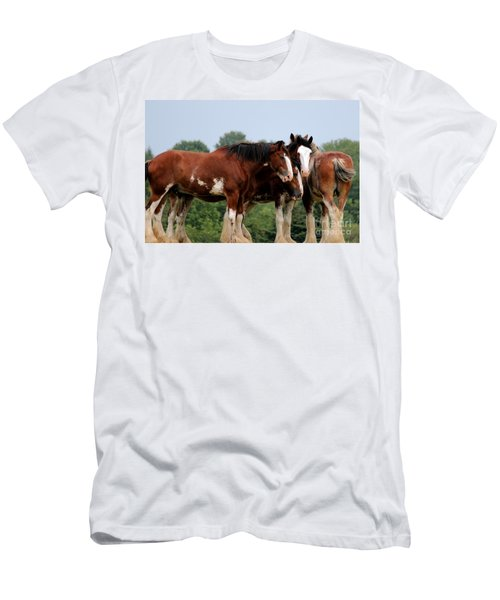 Horsie Huddle Men's T-Shirt (Athletic Fit)