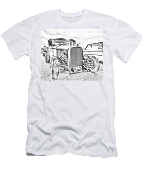 Hot Rod Faux Sketch Men's T-Shirt (Athletic Fit)