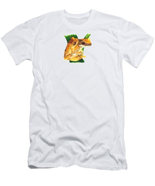 Hourglass Treefrog Men's T-Shirt (Slim Fit) by Cindy Hitchcock