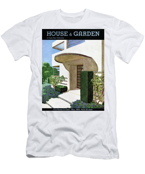 House & Garden Cover Illustration Of A Modern Men's T-Shirt (Athletic Fit)