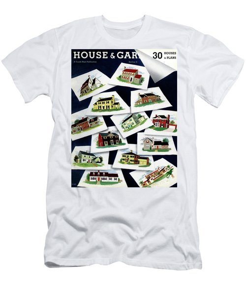 House & Garden Cover Illustration Of Various Homes Men's T-Shirt (Athletic Fit)