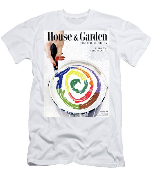 House & Garden Cover Of A Woman's Hand Stirring Men's T-Shirt (Athletic Fit)