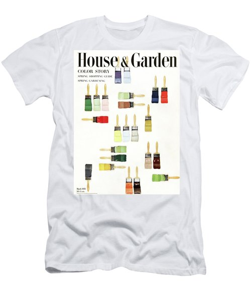 House & Garden Cover Of Paintbrushes Dripped Men's T-Shirt (Athletic Fit)