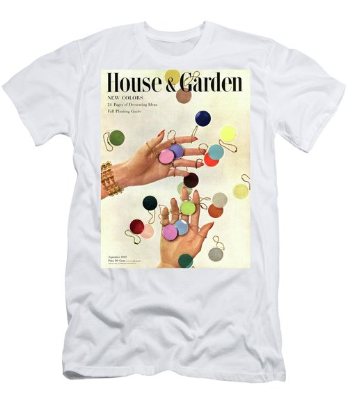 House & Garden Cover Of Woman's Hands With An Men's T-Shirt (Athletic Fit)