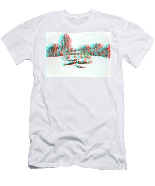 House On The Hill - Use Red/cyan Filtered 3d Glasses Men's T-Shirt (Athletic Fit)