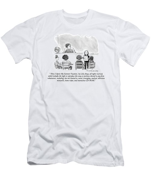 'how I Spent My Summer Vacation Men's T-Shirt (Athletic Fit)