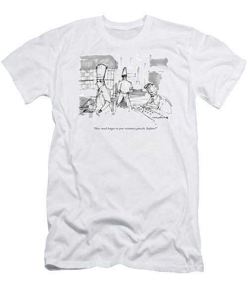 How Much Longer On Your Visionary Gnocchi Men's T-Shirt (Athletic Fit)