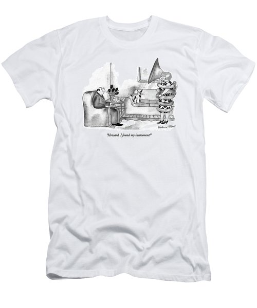 Howard, I Found My Instrument! Men's T-Shirt (Athletic Fit)