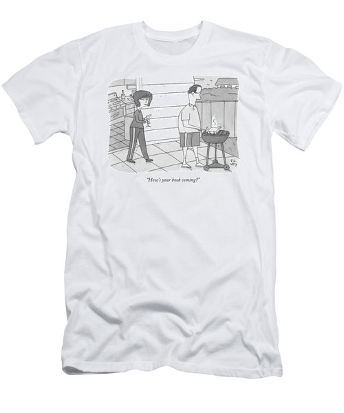 How's Your Book Coming? Men's T-Shirt (Athletic Fit)