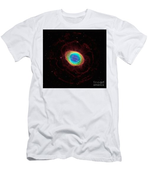 Men's T-Shirt (Slim Fit) featuring the  Hubble Reveals The Ring Nebulas True Shape by Paul Fearn
