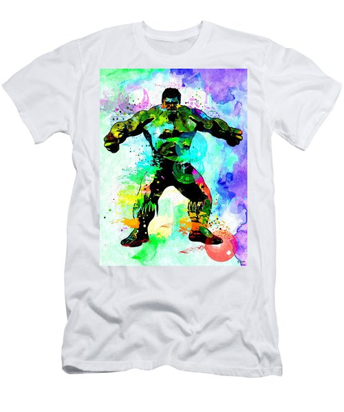 Hulk Watercolor Men's T-Shirt (Slim Fit) by Daniel Janda