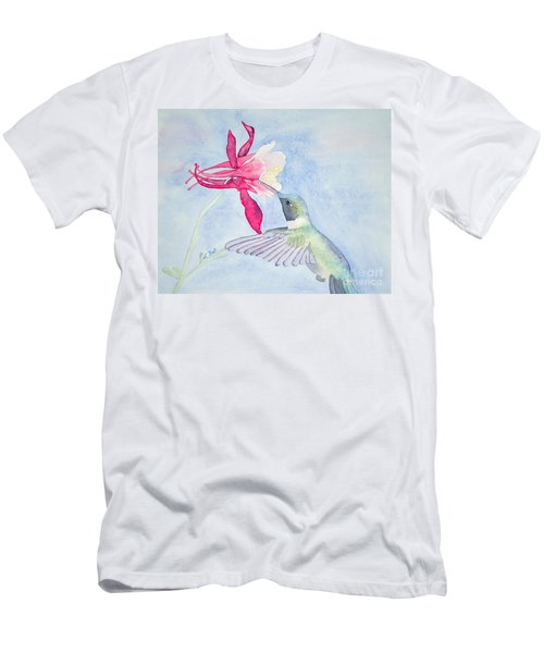Hummingbird And Columbine Men's T-Shirt (Athletic Fit)