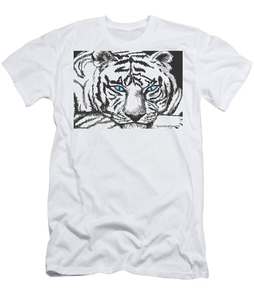 Men's T-Shirt (Slim Fit) featuring the drawing Hungry Eyes by Sophia Schmierer