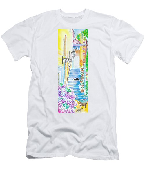 Hydrangeas And The Hotel Men's T-Shirt (Athletic Fit)