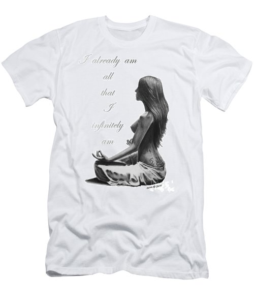 Men's T-Shirt (Slim Fit) featuring the drawing I Am by Marianne NANA Betts