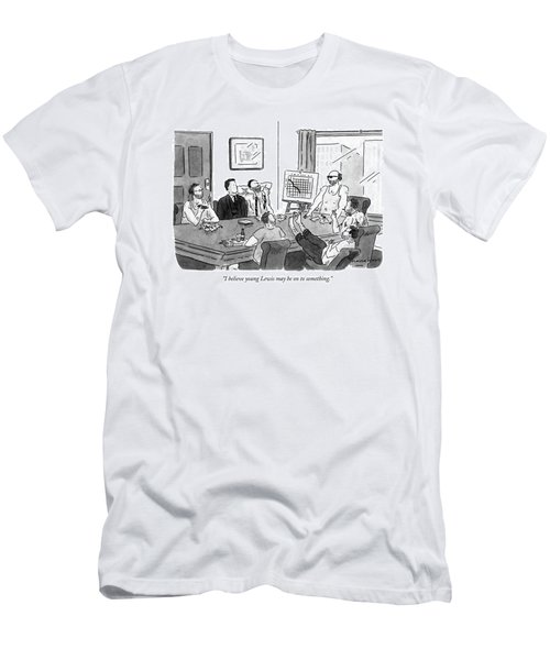 I Believe Young Lewis May Be On To Something Men's T-Shirt (Athletic Fit)
