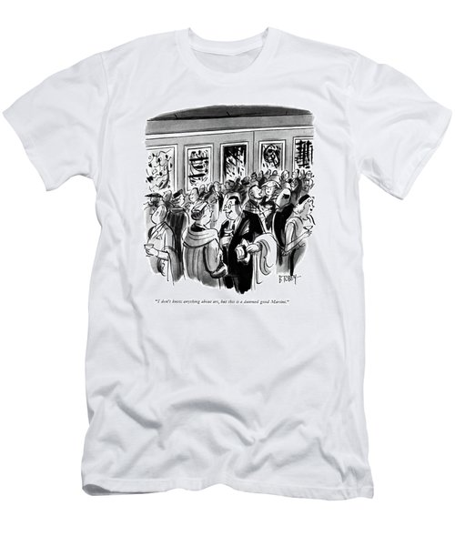 I Don't Know Anything About Art Men's T-Shirt (Athletic Fit)