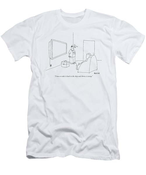 I Have To Take It Back To The Shop And Throw Men's T-Shirt (Athletic Fit)