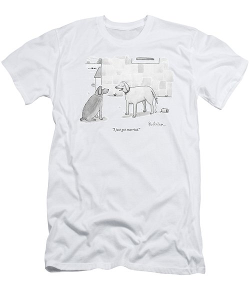I Just Got Married Men's T-Shirt (Athletic Fit)