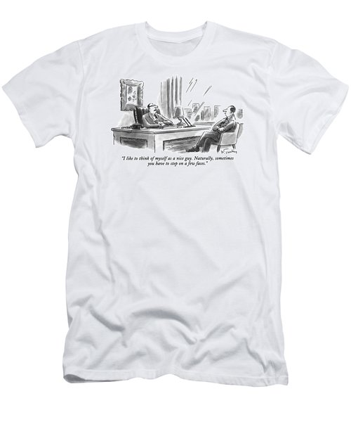I Like To Think Of Myself As A Nice Guy Men's T-Shirt (Athletic Fit)
