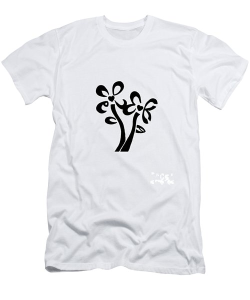 Men's T-Shirt (Slim Fit) featuring the drawing I Love You Flowers by Tamir Barkan