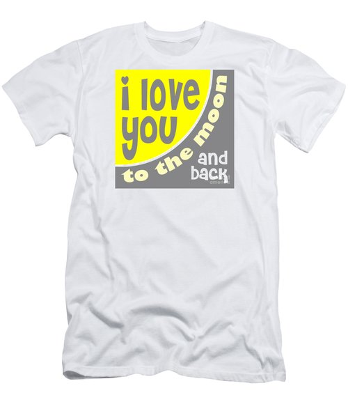 I Love You To The Moon Men's T-Shirt (Slim Fit) by Ginny Gaura