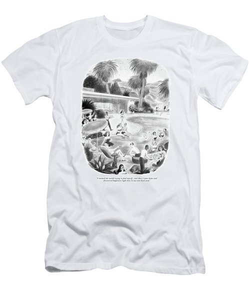 I Roamed The World Trying To Find Myself Men's T-Shirt (Athletic Fit)