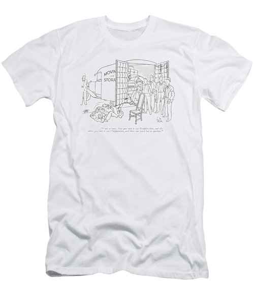 I Saw It Start. One Guy Said It Was Hepplewhite Men's T-Shirt (Athletic Fit)