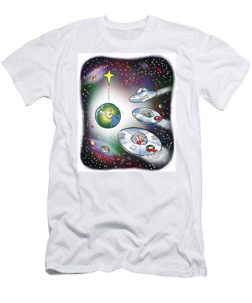 We Three Spacemen Men's T-Shirt (Athletic Fit)