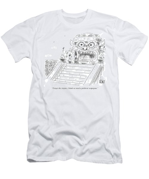 I Think We Need A Political Scapegoat Men's T-Shirt (Athletic Fit)