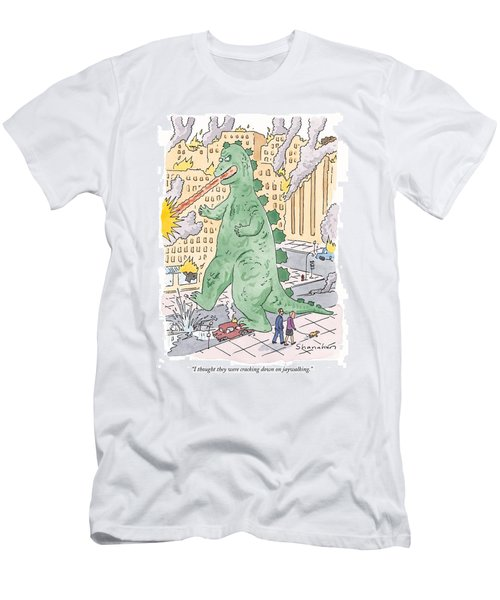 I Thought They Were Cracking Down On Jaywalking Men's T-Shirt (Athletic Fit)
