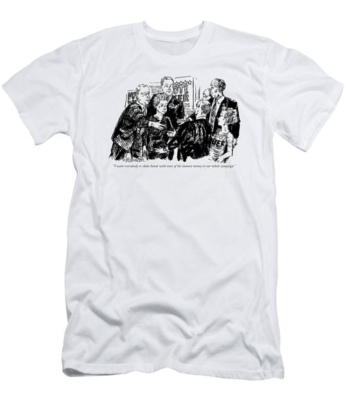 I Want Everybody To Shake Hands With Some Men's T-Shirt (Athletic Fit)