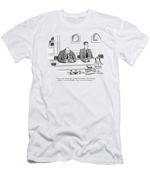 I Was On The Cutting Edge. I Pushed The Envelope Men's T-Shirt (Athletic Fit)