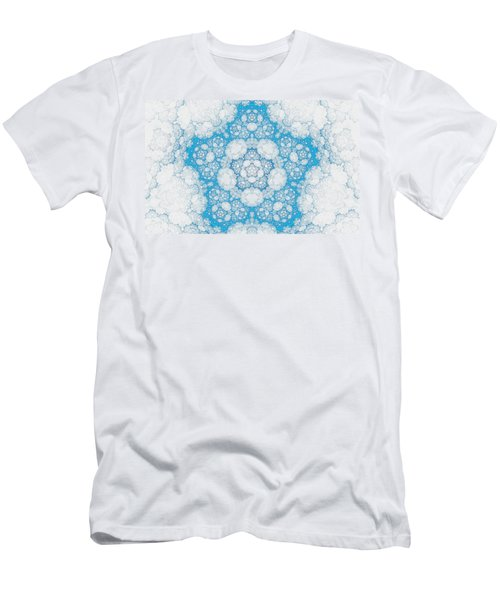 Men's T-Shirt (Slim Fit) featuring the digital art Ice Crystals by GJ Blackman