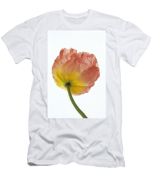 Men's T-Shirt (Slim Fit) featuring the photograph Iceland Poppy 1 by Susan Rovira