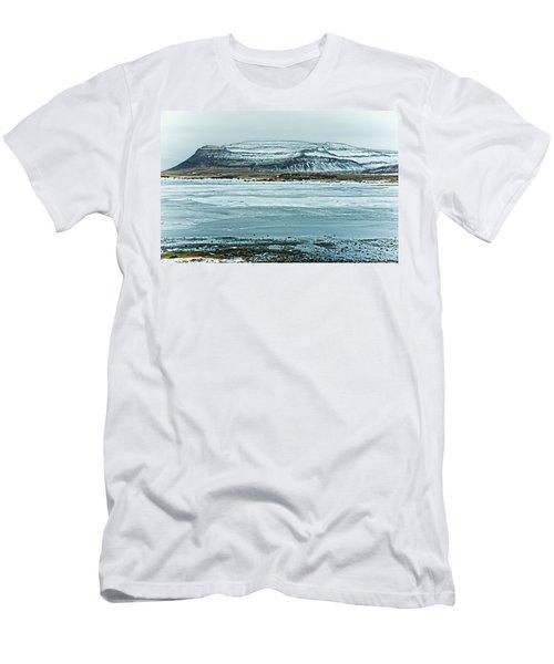 Icelandic Winter Landscape Men's T-Shirt (Athletic Fit)