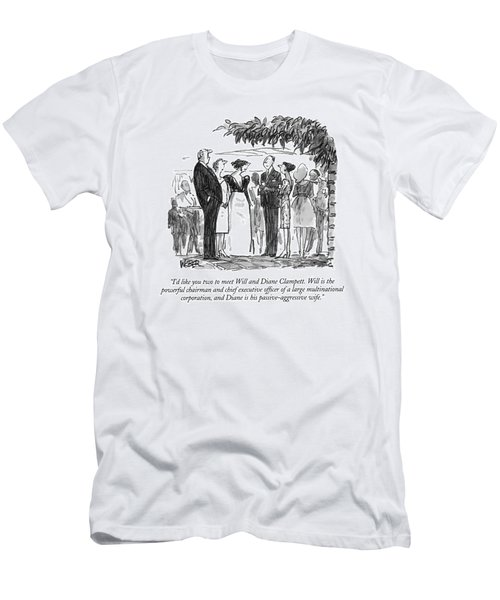 I'd Like You Two To Meet Will And Diane Clampett Men's T-Shirt (Athletic Fit)