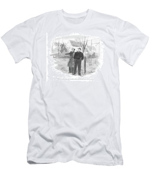 I'd Say Greens Along Both Doubles Alleys Men's T-Shirt (Athletic Fit)