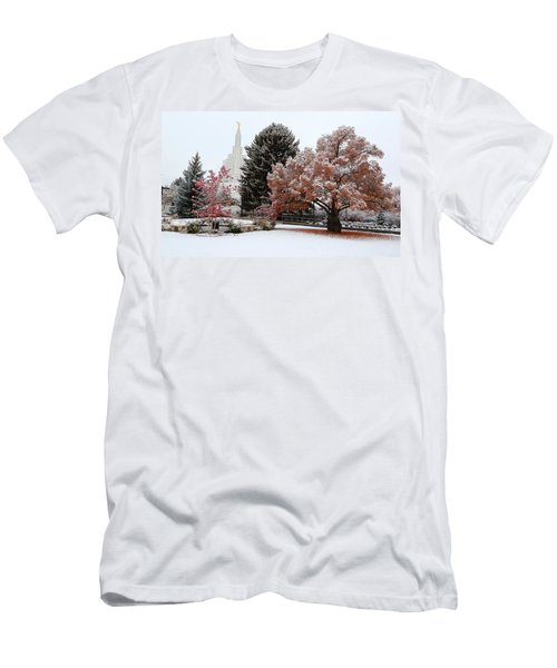 Idaho Falls Temple Winter Men's T-Shirt (Athletic Fit)