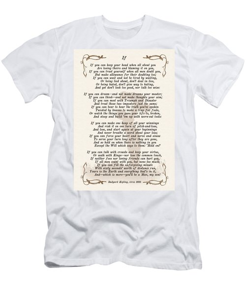 If Poem By Rudyard Kipling Men's T-Shirt (Slim Fit) by Olga Hamilton