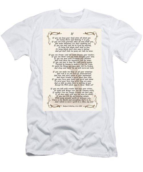 If Poem By Rudyard Kipling Men's T-Shirt (Athletic Fit)