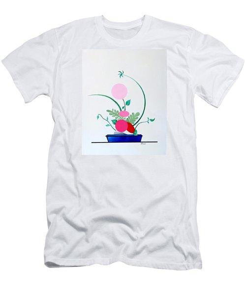 Ikebana #3 Blue Pot Men's T-Shirt (Slim Fit) by Thomas Gronowski