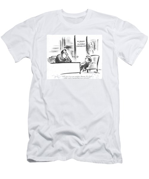I'll Give It To You Straight Men's T-Shirt (Athletic Fit)