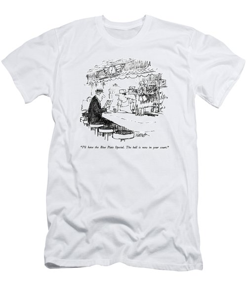 I'll Have The Blue Plate Special.  The Ball Men's T-Shirt (Athletic Fit)