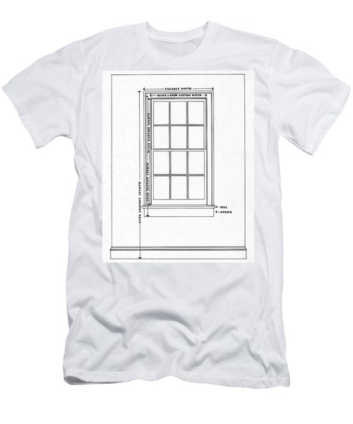 Illustration Of A Window Men's T-Shirt (Athletic Fit)