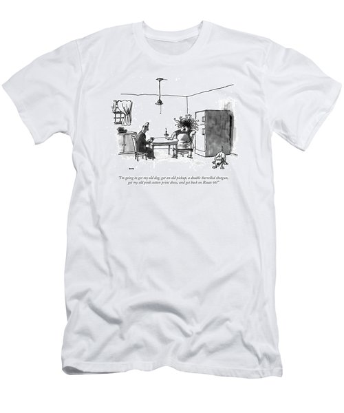 I'm Going To Get My Old Dog Men's T-Shirt (Athletic Fit)
