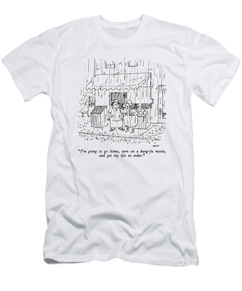 I'm Going To Go Home Men's T-Shirt (Athletic Fit)